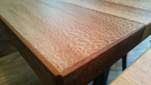 Quarter-sawn london plane table
